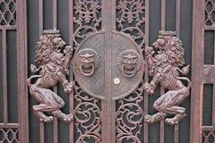 A porta do ferro Fotos de Stock