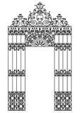 Porta do ferro ilustração royalty free