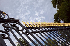 Porta do ferro feito Fotos de Stock Royalty Free