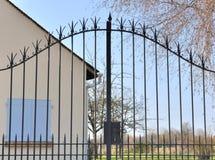 Porta do ferro forjado Imagem de Stock Royalty Free