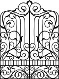 Porta do ferro forjado, porta, ilustração royalty free