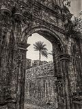 Porta do forte de Bassein na Índia Fotos de Stock
