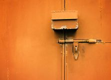Porta do metal Fotos de Stock Royalty Free