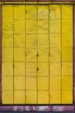 Porta do metal amarelo Foto de Stock