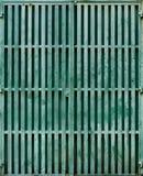 Porta do metal de turquesa Imagens de Stock Royalty Free
