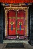 Porta do monastério de Spituk Ladakh, Índia foto de stock
