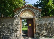 Porta do monastério de Telavi Akhali Shuamta foto de stock