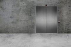Porta do muro de cimento e do elevador Fotografia de Stock Royalty Free
