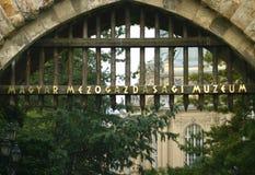 Porta do museu Foto de Stock