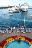 Porta do navio de cruzeiros Imagens de Stock Royalty Free