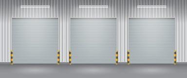 Porta do obturador ilustração stock