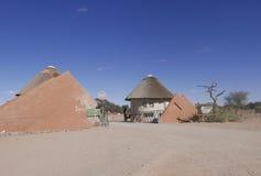 Porta do parque nacional de Namib-Naukluft de Namíbia fotografia de stock royalty free
