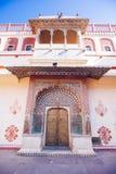 Porta do pavão no palácio da cidade de Jaipur, Rajasthan, Índia Imagens de Stock