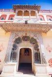 Porta do pavão no palácio da cidade de Jaipur, Rajasthan, Índia Imagem de Stock Royalty Free