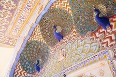 Porta do pavão no palácio da cidade de Jaipur, Rajasthan, Índia Fotos de Stock Royalty Free