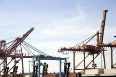 Porta do porto do transporte de carga Imagens de Stock Royalty Free