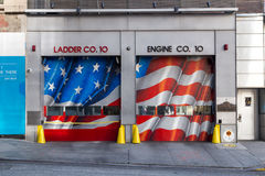 Porta do quartel dos bombeiros de New York Fotografia de Stock Royalty Free