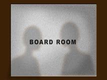 Porta do quarto de placa Imagem de Stock Royalty Free