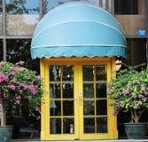 A porta do restaurante Fotos de Stock Royalty Free