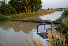 Porta do rio e de água Fotos de Stock Royalty Free
