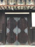 Porta do templo Fotografia de Stock Royalty Free