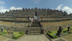 Porta do templo de Borobudur em Magelang, Java central, Indonésia imagem de stock