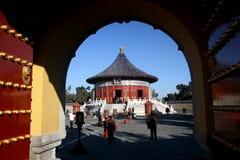 Porta do templo de céu imagens de stock royalty free