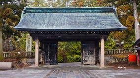 Porta do templo de Rinnoji Imagem de Stock
