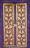 Porta do templo de Tailândia Imagens de Stock