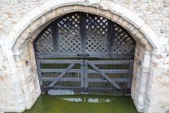 A porta do traidor, Londres imagem de stock