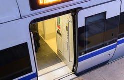 Porta do trem de alta velocidade Foto de Stock Royalty Free