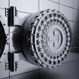 Porta do Vault de banco ilustração stock