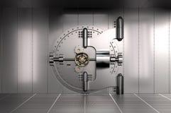 Porta do Vault de banco Imagens de Stock