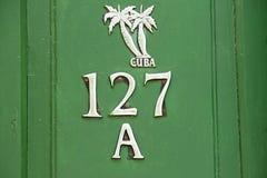 porta do verde 127A - Trinidad - Cuba Foto de Stock