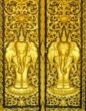 Porta dorata Fotografia Stock Libera da Diritti
