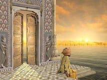 Porta dorata tradizionale Fotografia Stock Libera da Diritti