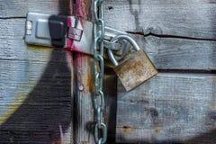 Porta dos grafittis Fotografia de Stock