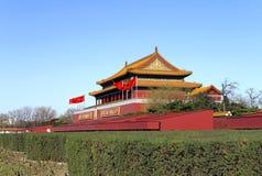 Porta dos Tian-Um-homens Pequim imagens de stock