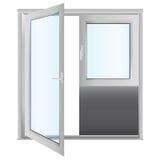 Porta dos vidros dos plásticos Fotografia de Stock
