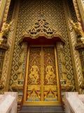 Porta dourada imagem de stock