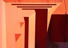 Porta dourada concreta do lado de baixo Imagens de Stock Royalty Free