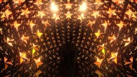 Porta dourada da estrela vídeos de arquivo