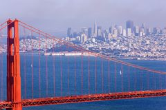 Porta dourada de San Francisco imagens de stock