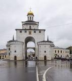 Porta dourada no vladimir, Federação Russa Imagem de Stock