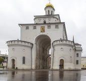 Porta dourada no vladimir, Federação Russa Foto de Stock
