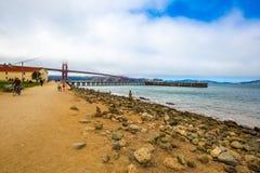 Porta dourada San Francisco Foto de Stock