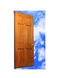 Porta e céu Fotografia de Stock