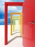 Porta e céu Imagem de Stock Royalty Free