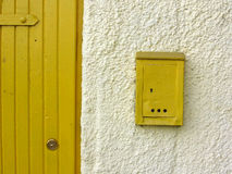 Porta e caixa Fotografia de Stock