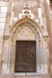 Porta e entrada de Ghotic Imagem de Stock